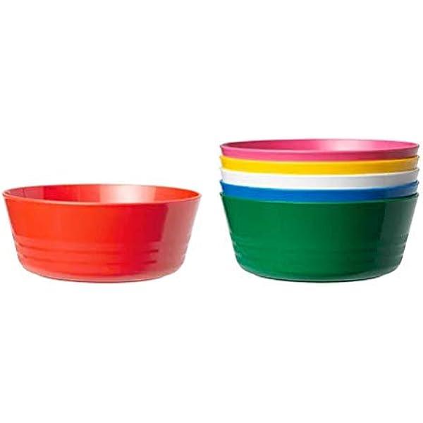 Ikea Kids Plastic Plates 19 x 19 x 5 cm Assorted