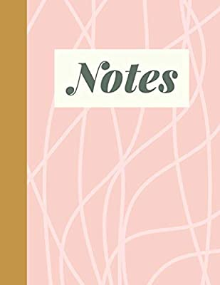 Notes: Large College Ruled School Subject Lined Notebook