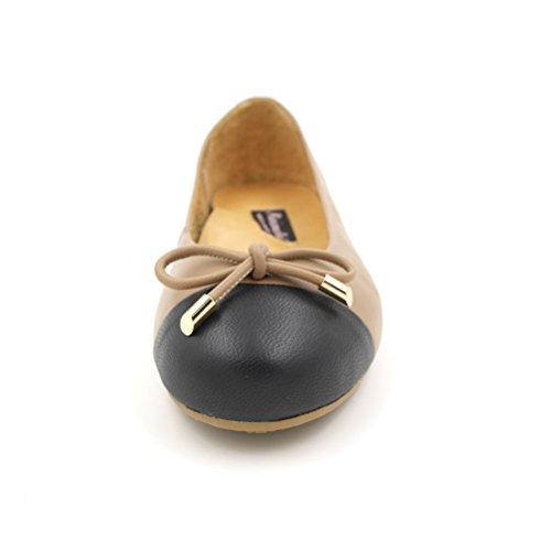 Minimalistische Damesschoen Katy Ballet Flats Caramel