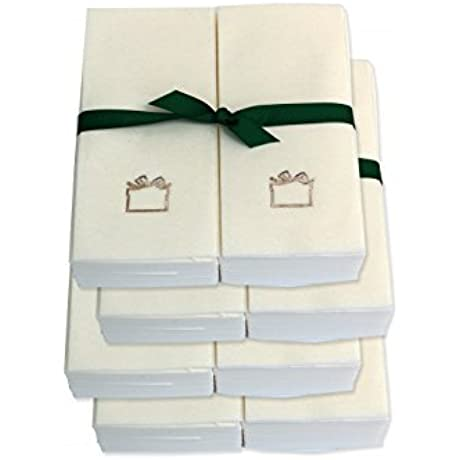 Disposable Guest Hand Towels With Ribbon Embossed With A Silver Gift 750ct