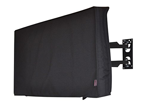 Outdoor 72'' TV Cover, Black Waterproof Universal Protector for 75''--78'' LCD, LED, Plasma Television Sets - Compatible with Standard Mounts and Stands. Built In Remote Controller Storage Pocket by BroilPro Accessories
