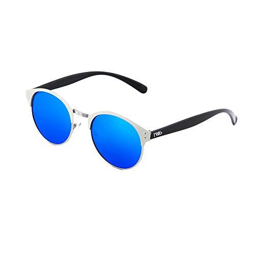 sol espejo PISSARRO hombre Gafas Azul Plata mujer TWIG de redondo 5qxtqRpX