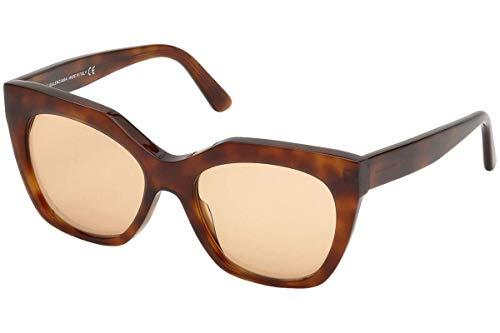 Balenciaga BA0132 Sunglasses – Blonde Havana Frame, Brown Lenses, 54 mm Lens Diameter BA01325453E