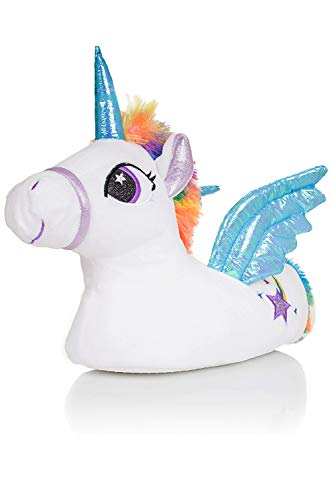 sconto del 50 stile classico del 2019 sconto di vendita caldo bambine ragazze pantofole taglia 10 11 12 13 1 2 Unicorn DIVERTENTE GADGET  NATALE REGALO IDEA 3D