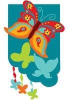 Fancy Butterflies Applique Mini Flag