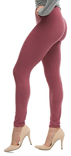 Mulberry Color - Lush Moda Extra Soft Leggings - Variety of Colors - Mulberry