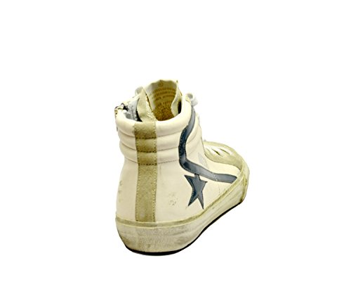 GOLDEN GOOSE Hombre G31MS595Q6 Blanco Cuero Zapatillas Altas