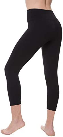 NIRLON Capri Leggings for Women 7/8 Length High Waist Workout Capri's Yoga Pants Regular & Plus Size Cotton Spandex 2