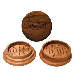 Sweetleaf 2 Piece Wooden Herb Grinder Party Size 63mm (Grinder Sweetleaf)