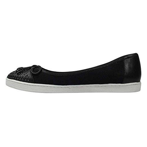 J.reneé Womens Marenda Mocassins Chaussures Tissu Noir