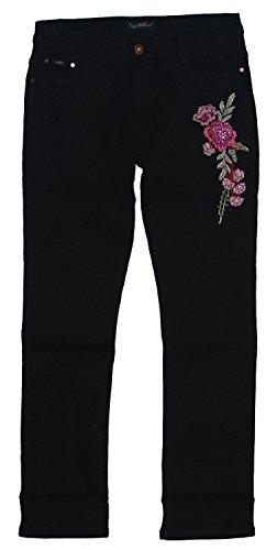 Tief Donna Jeans Adb Straight schwarz wtqT0xREZ