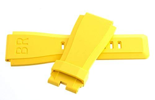 Original Bell & Ross 24mm x 24mm Yellow Rubber Replacement Strap