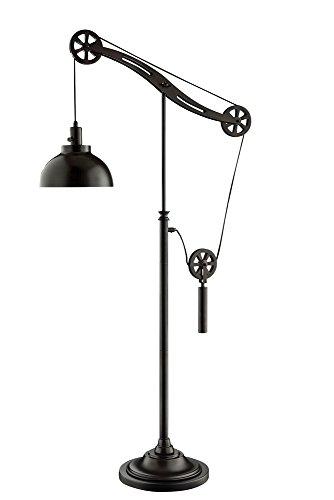 Lite Source Garrett Dark Bronze Industrial Pulley Floor Lamp