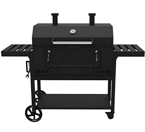 Smoke Hollow CG600G – Parrilla de carbón Actividades al Aire Libre en Familia, 91,4 cm, Color Negro