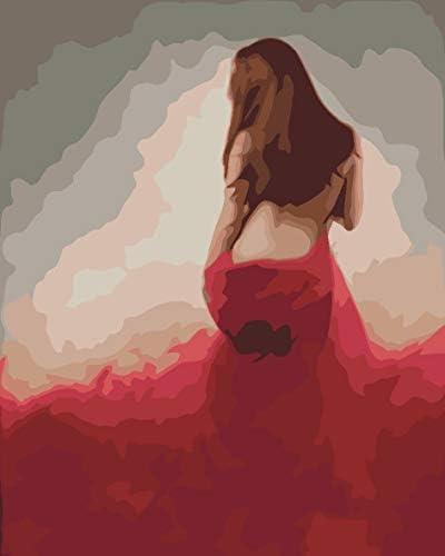 油絵 数字キットによる絵画 塗り絵 大人 手塗り DIY絵 デジタル油絵 セクシーな女性 40x50CM(フレームレス)