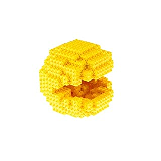 3D Pac-Man Building Brick Model Set - 205 3D Briks - Officially Licensed by BANDAI NAMCO Entertainment Inc - Stands at 5.5 x 5.5 x 5.5 Inch When Fully Built