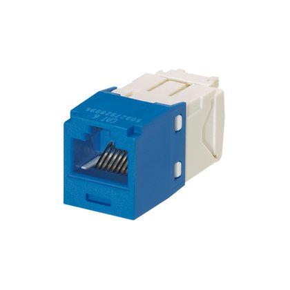 Panduit CJ688TGBU Mini-Com TX6 Plus Giga-Channel Cat6 Jack, Blue, Box of (Tx6 Jack)