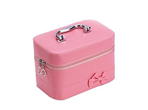 Candy Color Hecho A Mano Cosméticos Bolsa De Moda Bowknot Caja De Almacenamiento Cuadrado Caja De Almacenamiento Cuadrado Pink