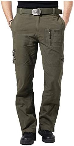 FREE FLY Hombres Pantalones de Combate Pantalones t/ácticos de los Hombres Pantalones Militares al Aire Libre Pantalones de Trabajo Verde del ej/ército, Waist 34   EU50