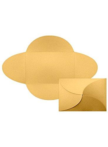 5x7 A7 Petal Invitations - Gold Metallic Envelopes - Pack of (Petal Envelopes)