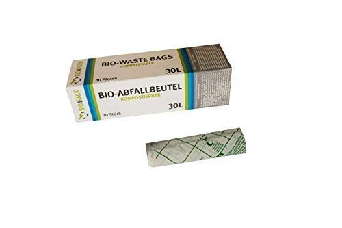 PGV Bio Bolsas de Basura de 30 litros Compostable, 10 Rollos ...