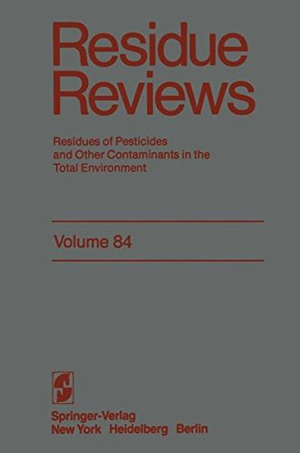 Residue Reviews: Residues of Pesticides and Other Contaminants in the Total Environment (Reviews of Environmental Contam