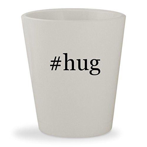 #hug - White Hashtag Ceramic 1.5oz Shot - Girl Instagram Spot Me