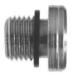 3//8-19 Male BSPP Midland 9522-H-6 Steel Hollow Hex Plug