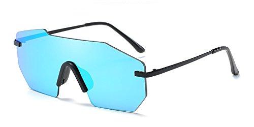 TIJN Sleek Rimless Shield Futuristic Sunglasses for - Futuristic Sunglasses