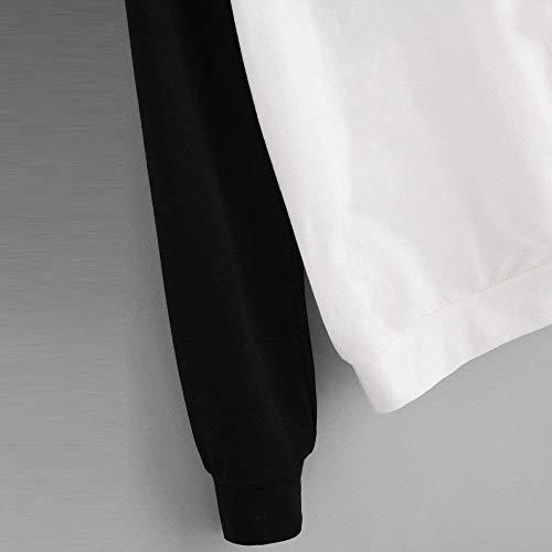 Sweat Zhrui Femme à couleur S Blanc manches Pull longues Panda élégant Taille CSwT6dwqr