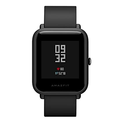 Amazfit Huami Pace Bip Smart Watch Touch Screen GPS Fitness Tacker Heart  Rate IP68 Professional Waterproof (Black) (Official English Version)   Amazon.in  ... c21b2e87007