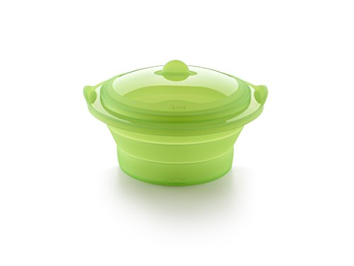 Lekue Silicone Collapsible Steamer   Green   BPA Free