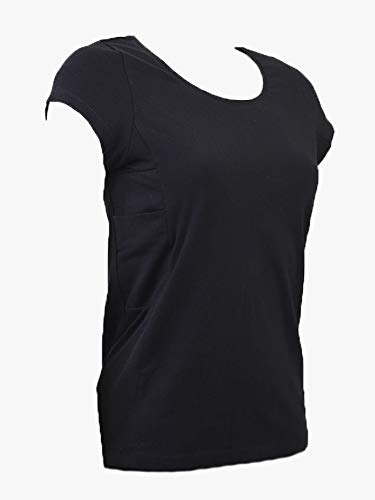 (Womens Diabetes T-Shirt with Pockets for Insulin Pump (M) )