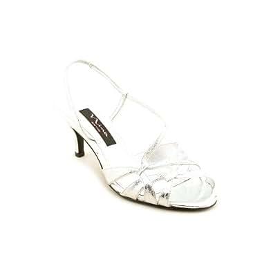 Nina Women's Cyprana Dress Shoes,Silver Metallic Suede,7 M US