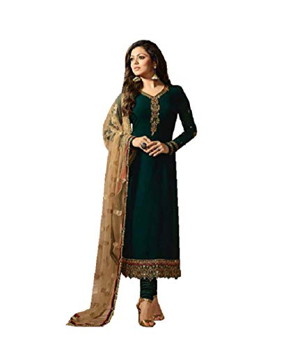 Ready Made Fashionable Designer Straight Salwar Kameez LT Nitya 2201-2208 (Green, L-42)