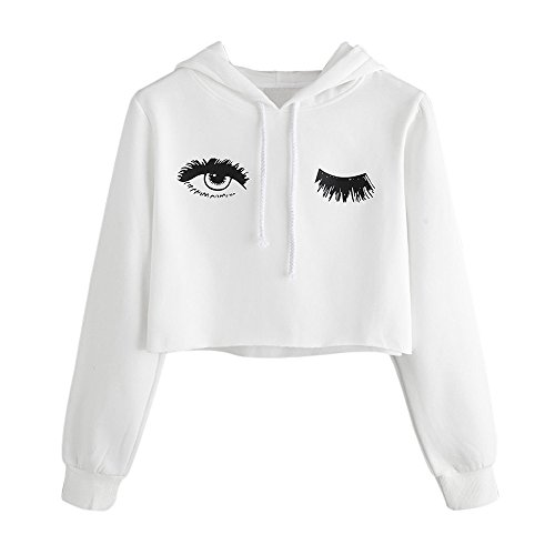 HYIRI Printed Sweatshirt Long Sleeve Pullover Tops,Womens Hoodie Eye Blouse