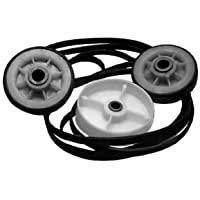 MAYTAG DRYER ROLLER BELT PULLEY REPAIR KIT ( Two Rollers Y303373,One Pulley 6-3037050, One Belt Y312959 )