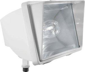 RAB Lighting FF150W High Pressure Sodium HID Future Floodlight, ED17 Type, Aluminum, 150W Power, 16000 Lumens, 120V, White by RAB Lighting