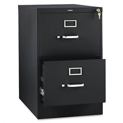 HON The Company P.P HON312CPP 310 Series Vertical File Cabinet Legal Width, 2 Drawers, Black ()