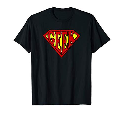 Funny Nerdy Super Geek Math Science Comic Hero Man T-shirt