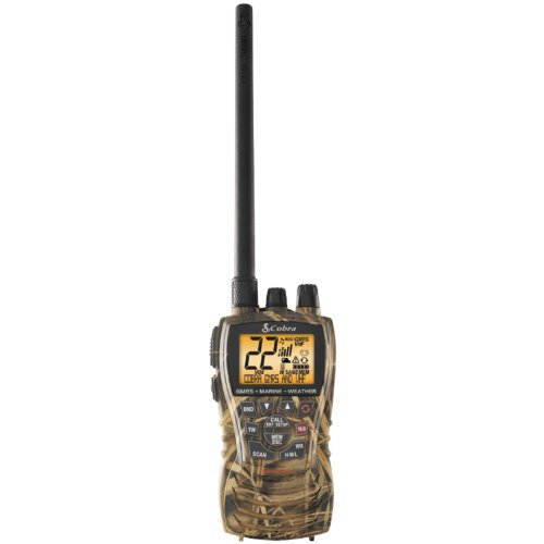 Cobra MR HH450 CAMO Marine Radio – Floating, All Terrain, Say-It-Again, Long Range