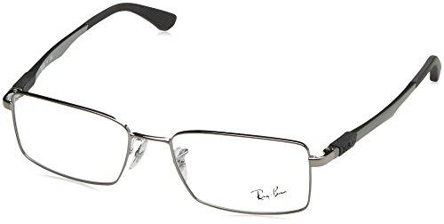 Ray Ban Optical Montures de lunettes RX6275 Gunmetal, 52mm Noir (Negro)