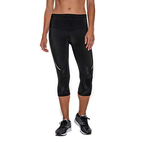 CW-X Women's Mid Rise 3/4 Capri Stabilyx Compression Legging Tights (Best Compression Tights For Knee Support)