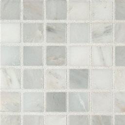 MS International Arabescato Carrara 1'' x 1'' Honed Marble Mosaic in 12'' x 12'' Sheet - LOT OF 10 Sheets
