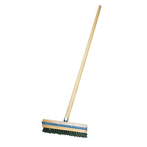 Oven Brush - American Metalcraft 1698 Pizza Oven Brush with Brass Bristles and Steel Scraper, Brown, 60-Inch Handle