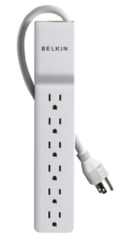 Outlet Laptop Surge Protector (Belkin 6-Outlet Home/Office Power Strip Surge Protector (4 Feet))