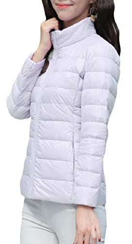 Xinheo Bianco Donne Giù Collare Breve Camice Il Zip Leggero Alzarsi Oversize Tasca Con Bc4cy