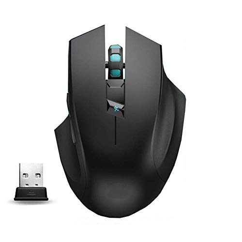 Lcxligang Wireless Mouse,2.4G Noiseless Silent USB Mouse with 3 DPI Adjustable 6 ButtonsErgonomic Game USB Computer Mice RGB Gamer Desktop Laptop PC Gaming Mouse,
