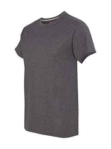 (Hanes Men's X-Temp Crewneck Short-Sleeve T-Shirt (X-Large), Charcoal)