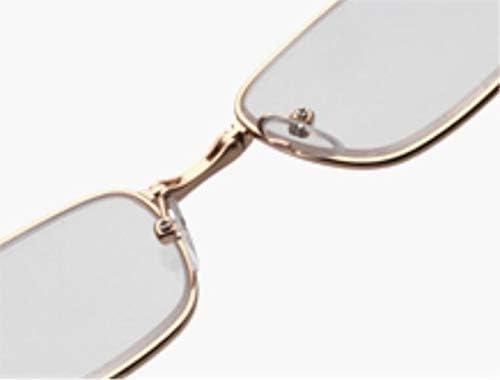 ポータブルメガネHD半透明の超軽量耐摩耗性老眼鏡の男性と女性を折りたたみ老眼鏡 (Color : Gold, Size : +3.0x)